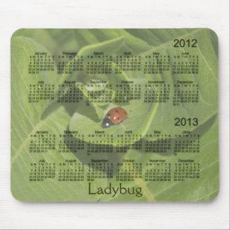 Calendario 2012-2013 de la mariquita Mousepad Alfombrilla De Ratón