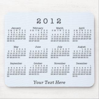 Calendario 2012 alfombrilla de ratón