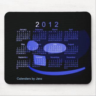 Calendario 2012 de escritorio alfombrilla de ratón