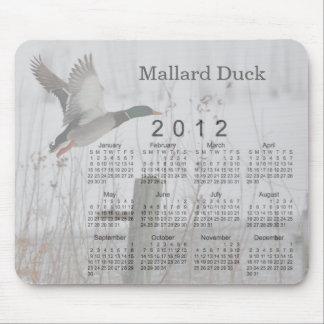 Calendario 2012 del pájaro alfombrilla de ratón