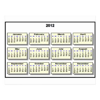 Calendario 2012 los regalos de Zazzle del MUSEO Postal