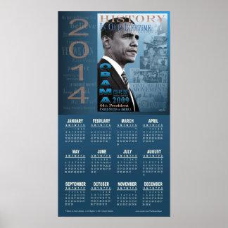 Calendario 2014 de las derechas civiles de preside posters