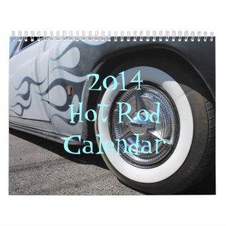 Calendario 2014 del coche de carreras