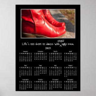 Calendario 2015 de pared de Demotivational: Póster