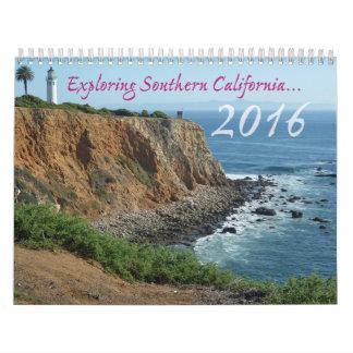 Calendario 2016 con escenas de California
