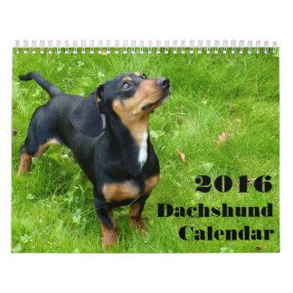 Calendario 2016 del Dachshund con sus fotos