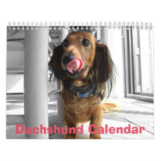 Calendario 2016 del Dachshund sus fotos de encargo