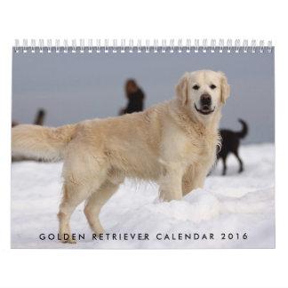 Calendario 2016 del golden retriever con sus fotos