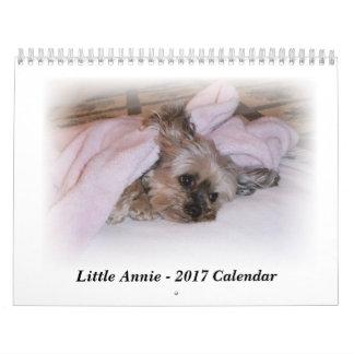 Calendario 2017 de 5 libras Yorkie que sonríe en