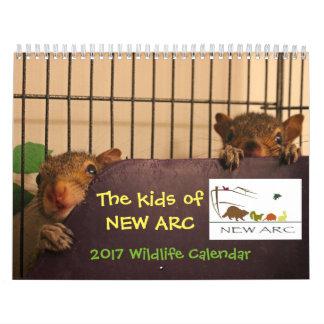 Calendario 2017 de los bebés de la fauna