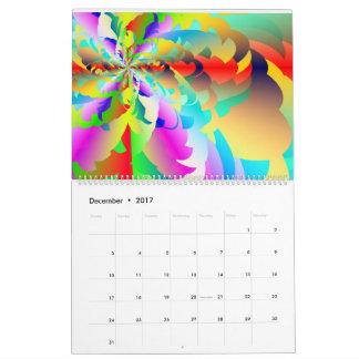 Calendario 2017 del arco iris del fractal