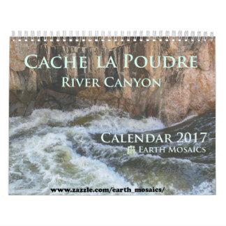 Calendario 2017 del barranco del río de Poudre del