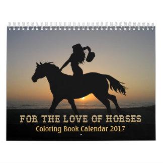 Calendario 2017 del libro de colorear de los