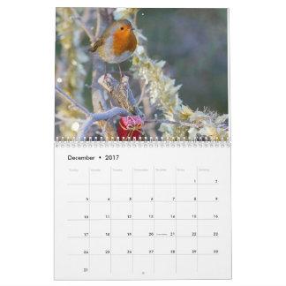 Calendario 2017 del petirrojo