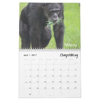 Calendario 2017 para el santuario del chimpancé