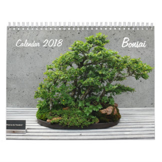 Calendario 2018 con los bonsais