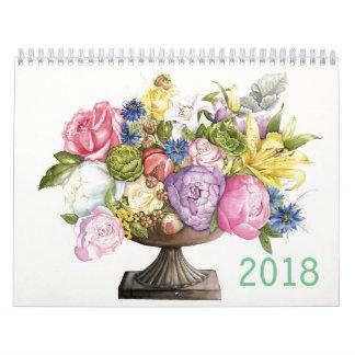 Calendario 2018 de acuarelas botánicas