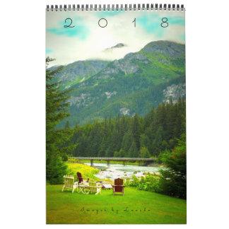 Calendario 2018 de Alaska con bio