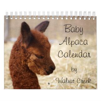 Calendario 2018 de la alpaca del bebé