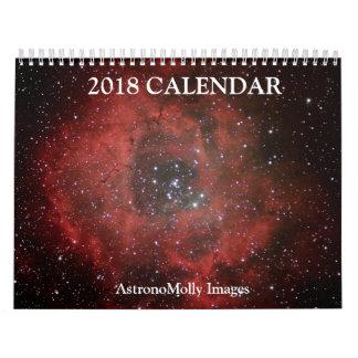 Calendario 2018 de la astronomía