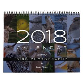 Calendario 2018 de la fotografía del pájaro
