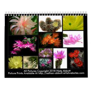Calendario 2018 de las flores de los cactus