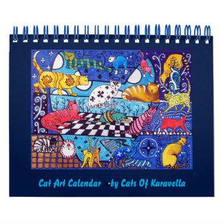 Calendarios De Pared Calendario 2018 de las pinturas del gato por los