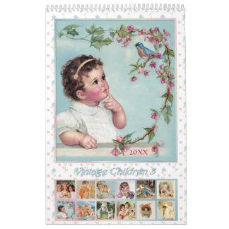 Calendario 2018 de los niños del vintage 3