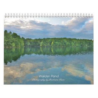 Calendario 2018 de pared de la charca de Walden: