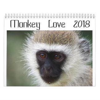Calendario 2018 del amor del mono