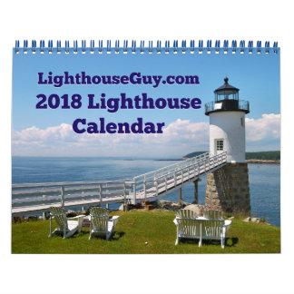 Calendario calendario 2018 del faro de LighthouseGuy.com
