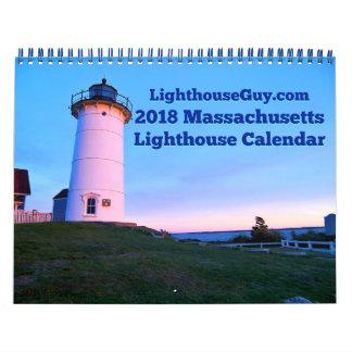 Calendario De Pared Calendario 2018 del faro de Massachusetts
