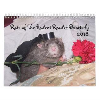 Calendario 2018 del lector del roedor E