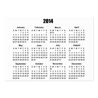 Calendario 2 de 2014 bolsillos plantilla de tarjeta de visita