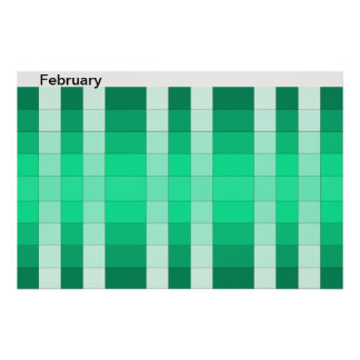 Calendario 2 de febrero del mes del poster del