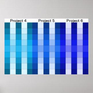 Calendario 2 del proyecto del poster del arco iris