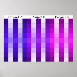 Calendario 3 del proyecto del poster del arco iris