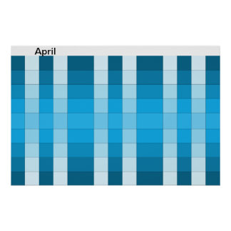 Calendario 4 de abril del mes del poster del arco