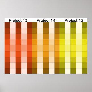 Calendario 5 del proyecto del poster del arco iris