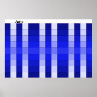 Calendario 6 de Jnne del mes del poster del arco i