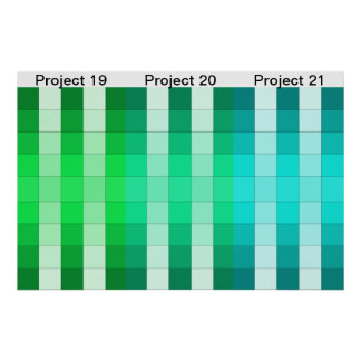 Calendario 7 del proyecto del poster del arco iris