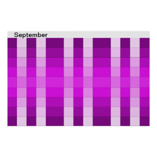 Calendario 9 de septiembre del mes del poster del