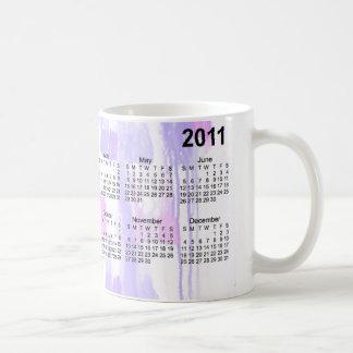 Calendario abstracto 2011 taza de café