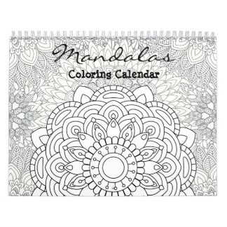 Calendario adulto 2018 del colorante de las