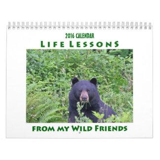 Calendario animal 2016 de las lecciones de la vida