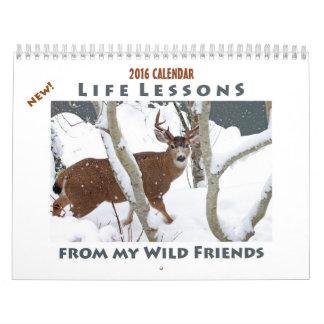 Calendario animal 2016 - nuevas lecciones de la