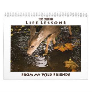 Calendario animal inspirado 2016