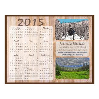Calendario anual del promo del zazzle de Colorado Flyer