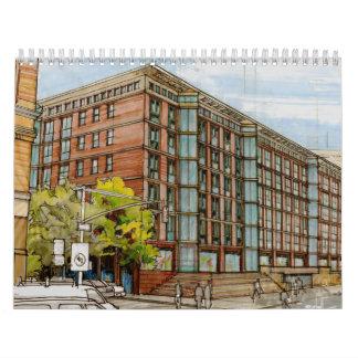 Calendario arquitectónico de la representación