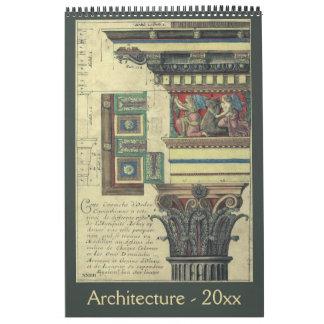 Calendario Arquitectura antigua a partir de la era del